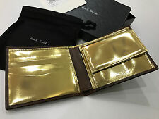 Paul Smith Wallet with GOLD Interior COIN POUCH 4x CC Billfold Made in Italy