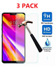 3-Pack For LG ThinQ G7 Premium Clear Tempered Glass Screen Protector