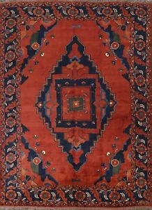 Geometric Tribal Balouch Afghan Area Rug Hand-knotted Wool Oriental Carpet 8x10