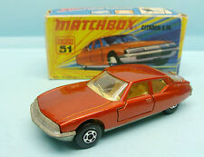WO11/15/55 MATCHBOX / SERIE 75 / SUPERFAST / 51 CITROEN SM