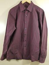 BCBG Attitude Men's Long Sleeve Modern Fit Striped Shirt Size Large 16.5 - 34/35