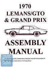 1970-70 Pontiac GTO Assembly Manual Each
