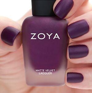 ZOYA ZP817 IRIS MATTE VELVET Winter Holiday purple w/ pearl matte nail polish