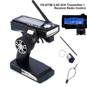 FS-GT3B 2.4G 3CH Transmitter Receiver With Fail-Safe For RC Car & RC Boat UK