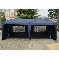 10' X 20' Patio POP UP Gazebo Tent Party Wedding Canopy W/ Sidewalls Blue