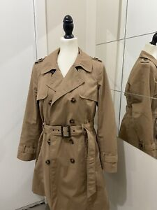 M & S Womens Trench Coat Size 12 Used