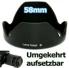 58mm Lens Hood Kronenblatt Shape Black Swivel