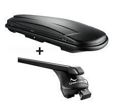 Skibox schwarz VDP JUXT 400 lit + Relingträger Kia Ceed II SW ab 2012 bis