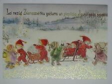New Lisi Martin double card Christmas and New Year boy girl child letter Latvia