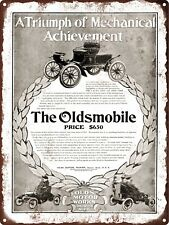 """1904 Oldsmobile $650 Ad Man Cave Metal Sign Repro 9x12"""" 60561"""