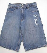 G Unit #SH6959 Jungs Jugend Größe 16 100% Baumwolle Light Wash Jeans Blau Denim Shorts