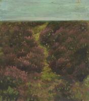 Olga POTTHAST, Niederdeutsche Heidelandschaft mit Horizont, um 1900, Öl