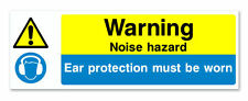 WARNING NOISE HAZARD - Self Adhesive Safety Sticker for Offices, Building Sites