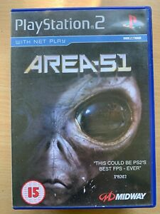 Area 51 Sony PlayStation 2 PS2 Midway Alien Adventure Game UK