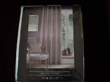 """NEW lined Montgomery Rib Plain White eyelet cutains Width 46""""xDrop 90"""" RRP£84.89"""
