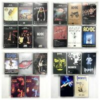 BUILD UR OWN Cassette Lot - AC/DC, Led Zeppelin, Hendrix, Zappa, Beatles + More!
