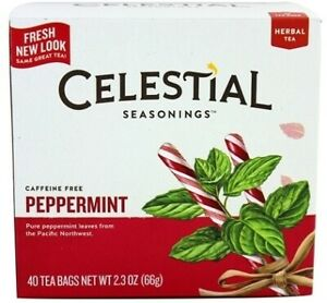 Peppermint Tea by Celestial Seasonings, 40 Pack of 6