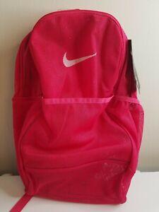 NEW NIKE BRASILIA Adult Mesh/Backpack/ Sports Gym SEE THROUGH BA6050 666
