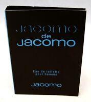Jacomo JACOMO DE JACOMO pour Homme Eau de Toilette Sample Vial NEW w/CARD