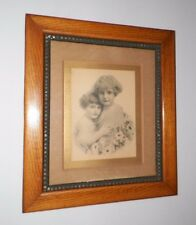 VINTAGE VICTORIAN WOODEN FRAME WITH A LITTLE BIT OF HEAVEN PRINT ORNATE METAL