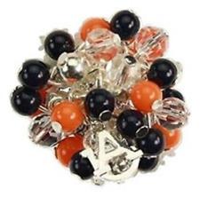 Auburn Bauble Bead Stretch Ring