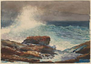 Winslow Homer Incoming Tide Poster Reproduction Paintings Giclee Canvas Print