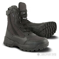BLACK LEATHER CORDURA SPEC OPS RECON BOOT ZIP SIDE LIGHTWEIGHT MILITARY ARMY