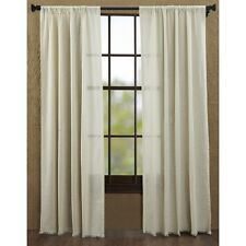 "Tobacco Cloth Fringed Panel Set, Natural 84""L"