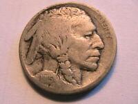 1915-P Buffalo Nickel Fine Grey Toned Original Indian Head 5 Cent WWI Era Coin