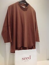 Seed Heritage Sz XL 16 women's long sleeve toffee colour top - casual - as new