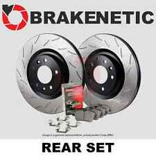 CERAMIC PADS 82491PK FRONT + REAR POWER DRILLED SLOTTED PLATED BRAKE ROTORS