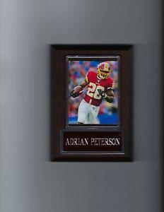 ADRIAN PETERSON PLAQUE WASHINGTON REDSKINS FOOTBALL NFL