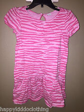Gap kids size 4 New euc pink kitty cat leopard dress