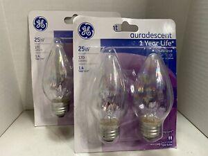GE Auradescent 25W F Type Multi-Use Decorative Bulbs 75340 Lot of 2