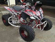 Yamaha Raptor 250 graphics racing decal kit #2500 red