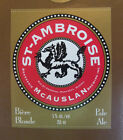 VINTAGE CANADIAN BEER LABEL - McAUSLAN BREWERY, ST AMBROISE PALE ALE 355 ML #2