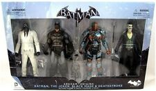 BATMAN ARKHAM ORIGINS 4 PACK BATMAN,JOKER,BLACK MASK, DEATHSTROKE ACTION FIGURES