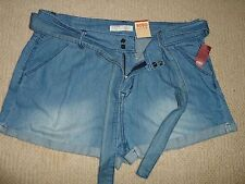 Women's Short Hot Sexy Jeans Juniors Size 17  Cotton Stylish Belt and Pleated