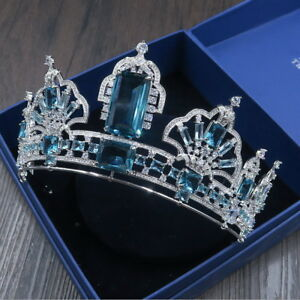 Luxury Big CZ Cubic Zirconia Adult Wedding Bridal Party Pageant Prom Tiara Crown