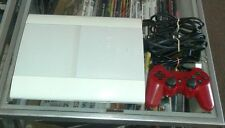 White PS3 console bundle slim 500gb with cords + 1 Controller FAST FREE SHIPPING