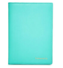 TIFFANY & CO.  BLUE SMOOTH LEATHER PASSPORT COVER CASE MADE IN ITALY NEW IN BOX