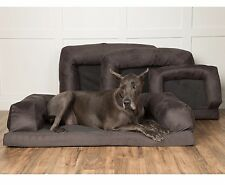 "Orthopedic Pet Dog Bed Couch XXL Extra-Large 40""x60""x14"" Great Dane Mastif Grey"
