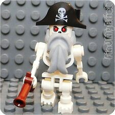 T224 LEGO Castle Pirates Skeleton Ship Captain Minifigure from 7029 NEW