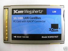 LOT OF 10 NEW 3CXFE575CT PCMCIA XJACK 10/100 NETWORK CARD NIC
