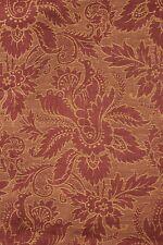 Antique French fabric 19th century jacquard weave furnishing rust tone