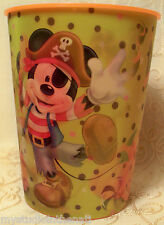 Disney MICKEY & MINNIE MOUSE Orange Lenticular Cup Tumbler HALLOWEEN Pirate Bee