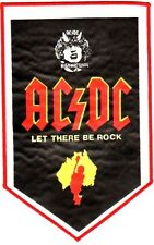 AC/DC 'LET THERE BE ROCK'  pennant sew on large patch, ORIGINAL