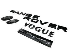 AUTOBIOGRAPHY BLACK RANGE ROVER VOGUE & SUPERCHARGED GRILL & REAR BADGE SET