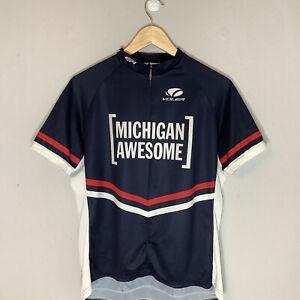 Voler Michigan American Cycling Bike Jersey Shirt Race Raglan Womans XLarge