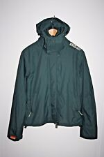 Superdry Woman's Fashion Designer Sport Hooded Jacket Sea Green Casual Style M